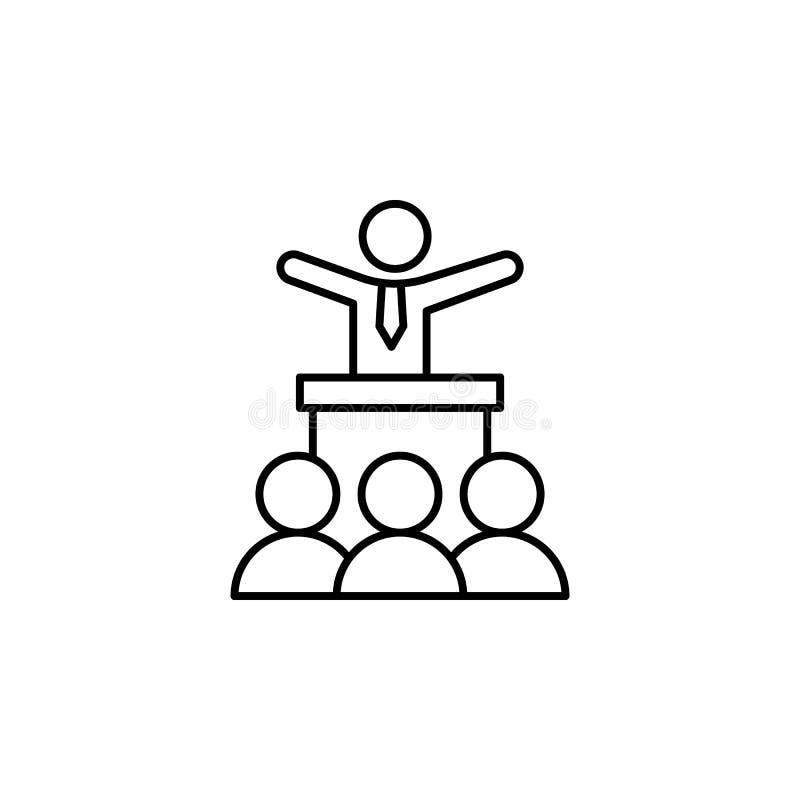 Anime el icono del entrenamiento del jefe Elemento de la línea icono de la motivación del negocio ilustración del vector