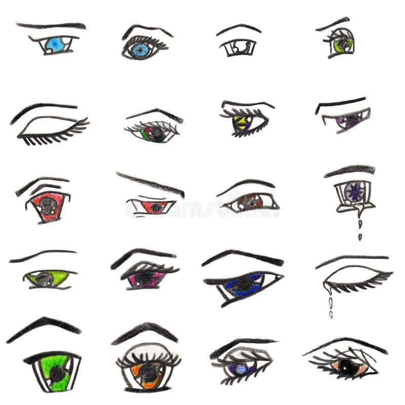 anime eyes stock illustration illustration of pink black