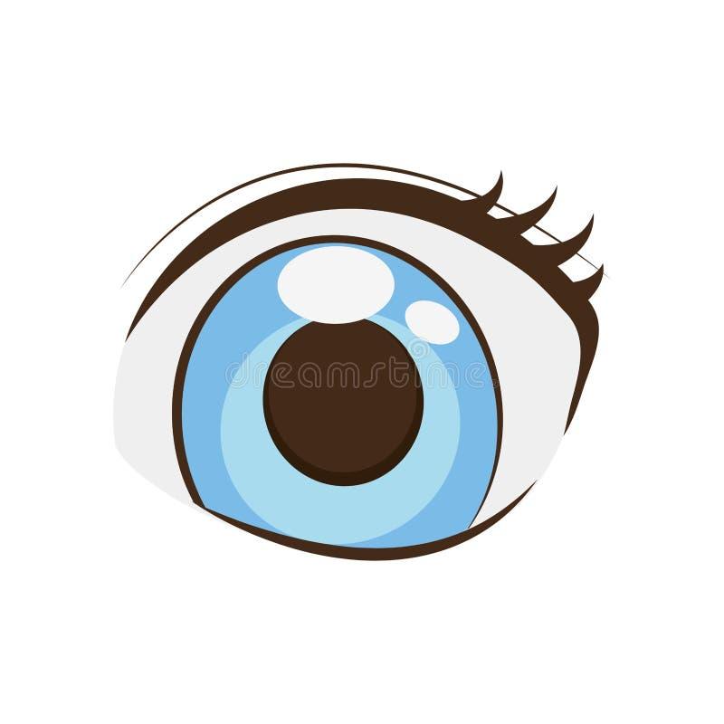 Anime eyes style comic. Illustration eps 10 vector illustration