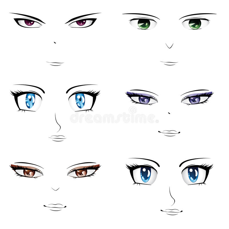 Free Anime Faces Royalty Free Stock Image - 34694906