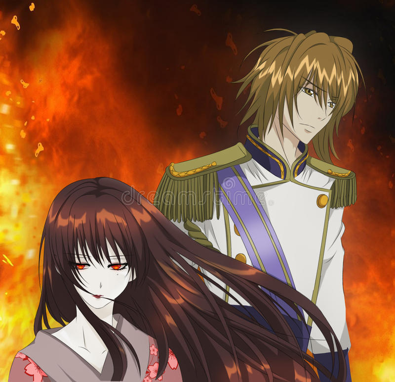 Anime ilustracja obraz stock