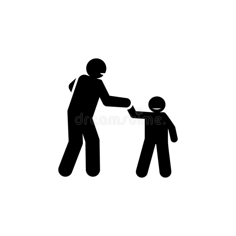 Anime, padre, familia, icono positivo Elemento del icono parenting positivo Icono superior del dise?o gr?fico de la calidad muest stock de ilustración