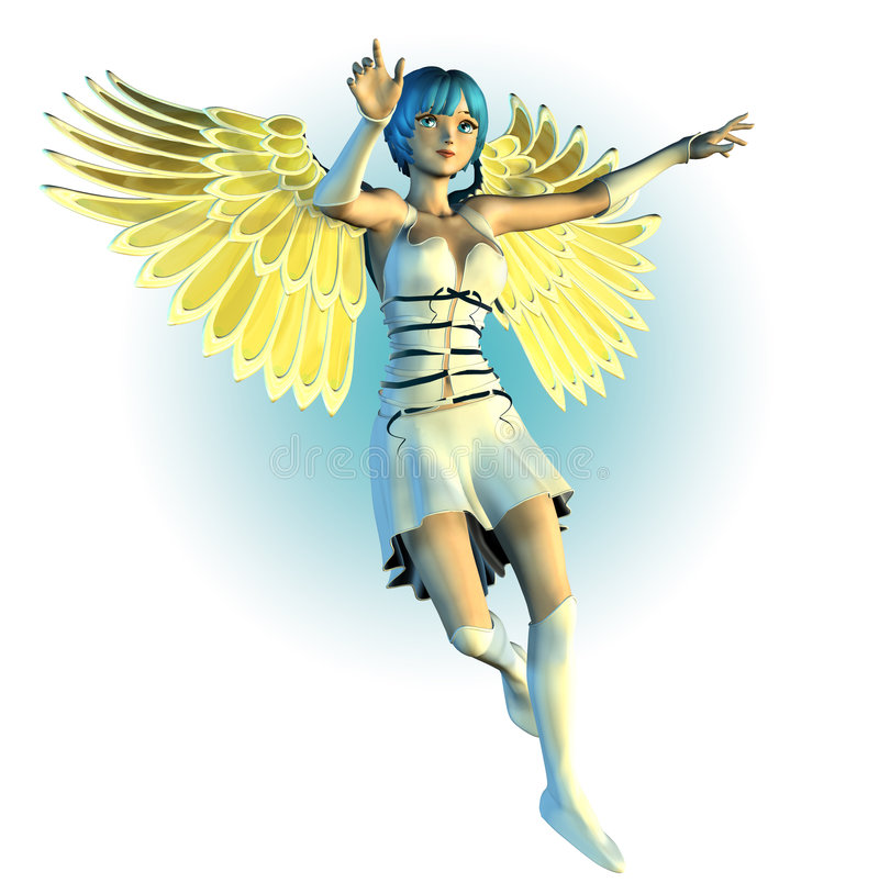 Anime Style Angel - includes clipping path vector illustration