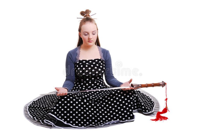 Download Anime Teenage Girl Holding A Sword Royalty Free Stock Image - Image: 24378136