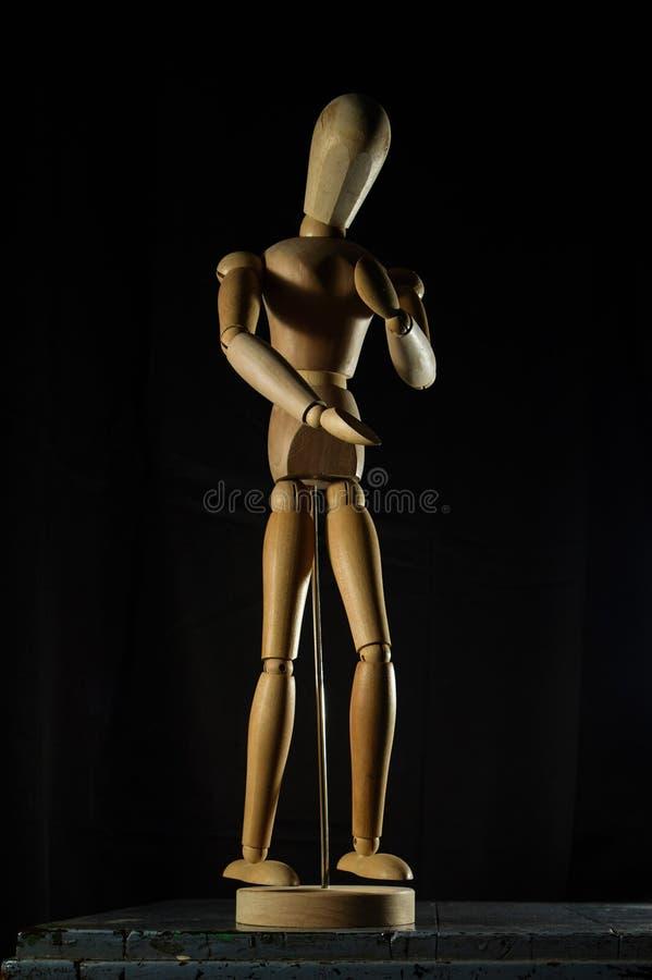 Anime urządzeń peryferyjnych modela złącza mężczyzny zabawka Ornamentuje Drewniany modela Kalyan maharashtra INDIA zdjęcie royalty free