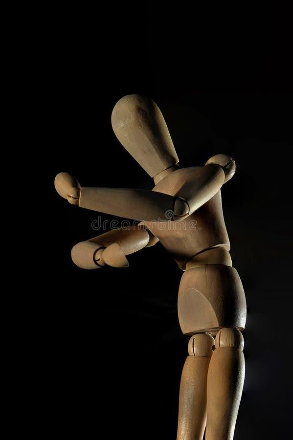 Anime urządzeń peryferyjnych modela złącza mężczyzny zabawka Ornamentuje Drewniany modela Kalyan maharashtra INDIA fotografia royalty free