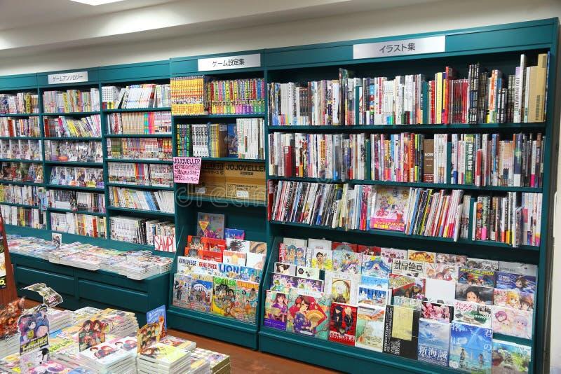 Animeboekhandel royalty-vrije stock afbeelding