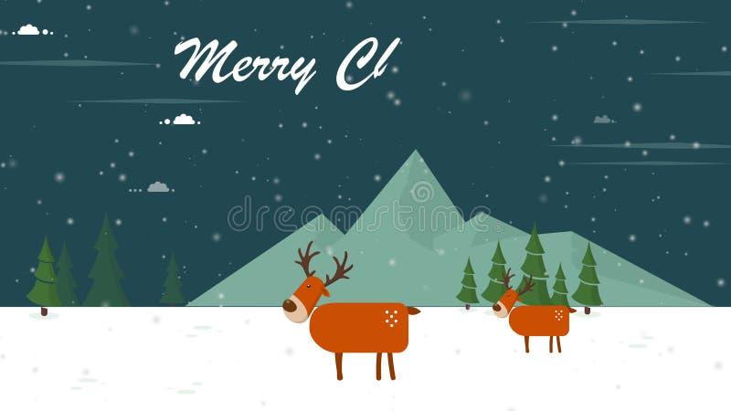 Animering av hjortjul för glad jul royaltyfria foton