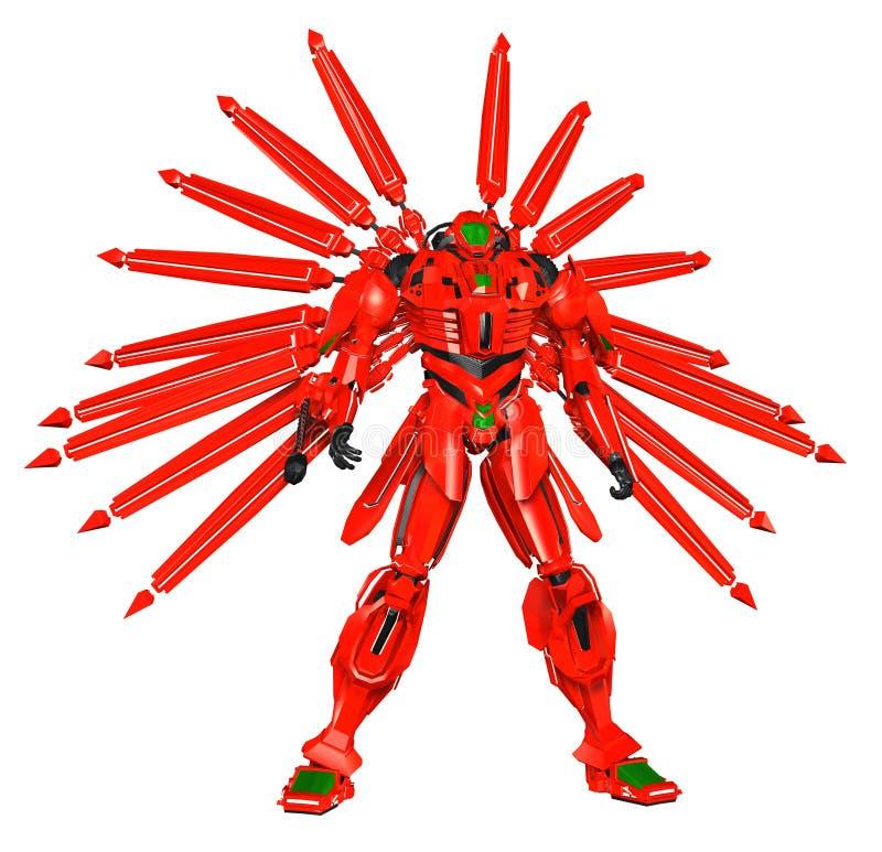 Animerobotkrigare vektor illustrationer