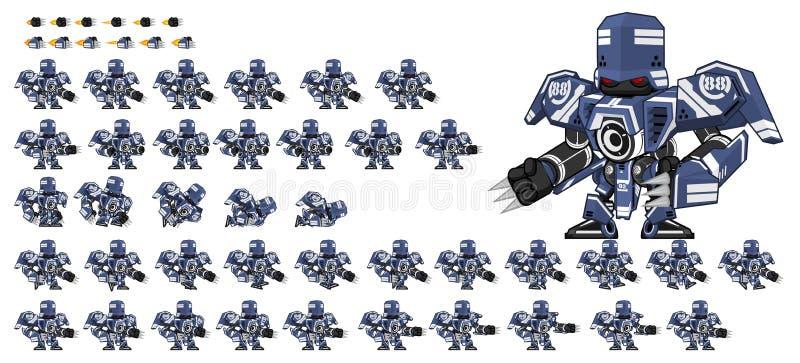 Animowani robota charakteru Sprites royalty ilustracja