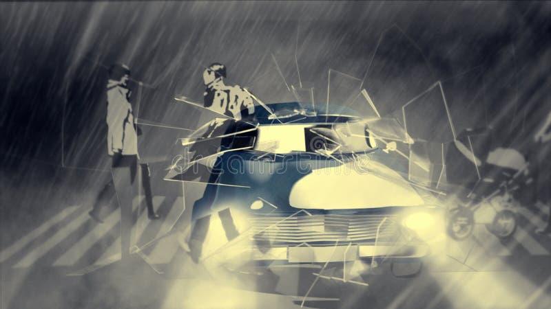 Animowany chłodno samochód ilustracja wektor