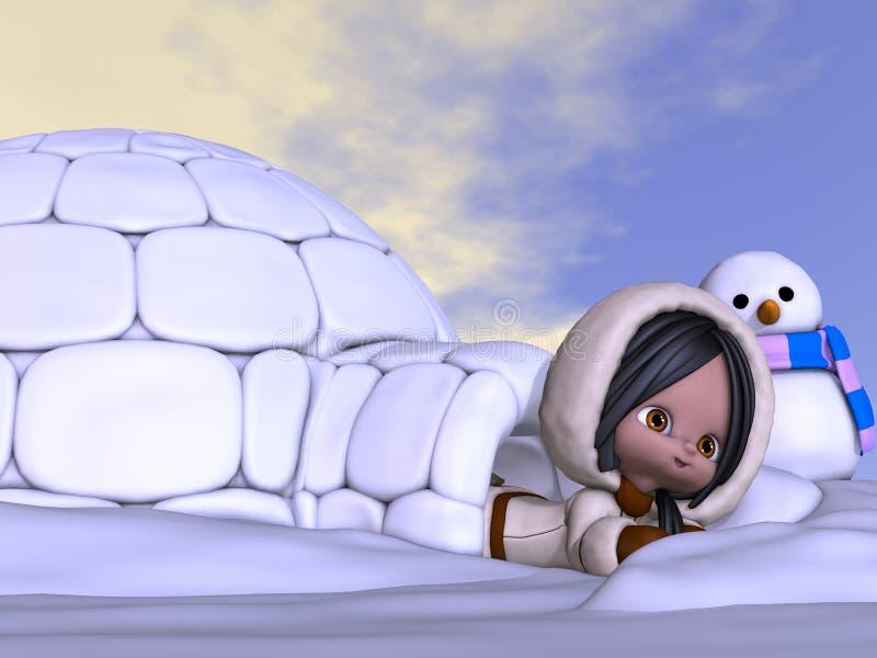 Animowany eskimo ilustracji