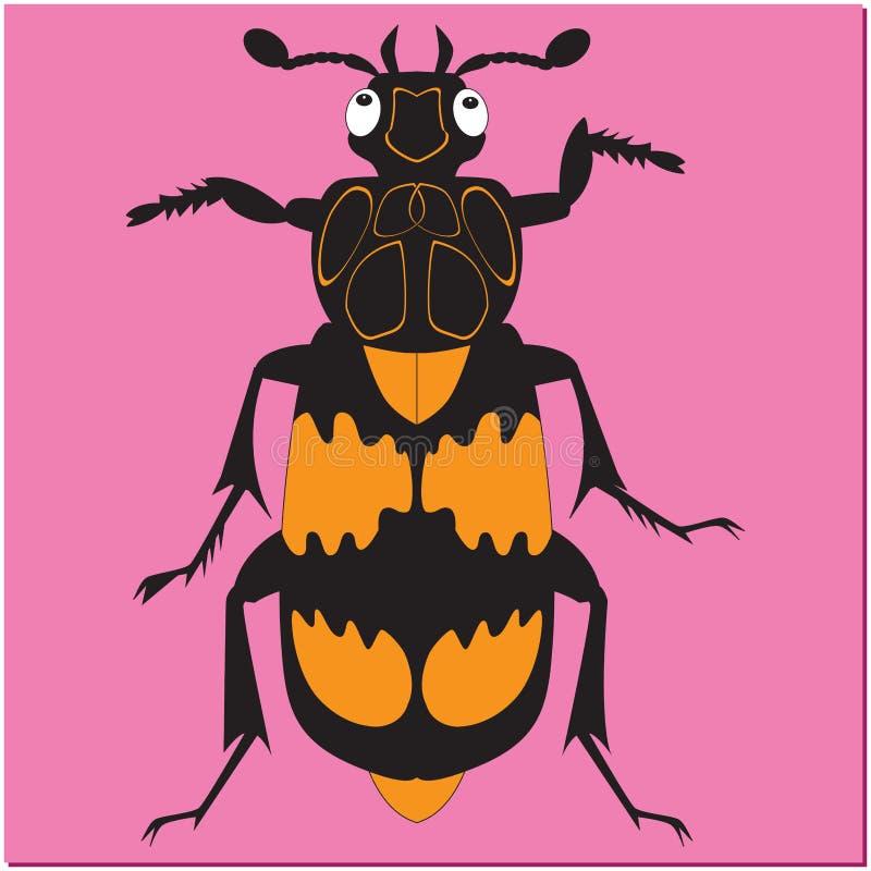 Animowany insekt ścigi gravedigger ilustracja wektor