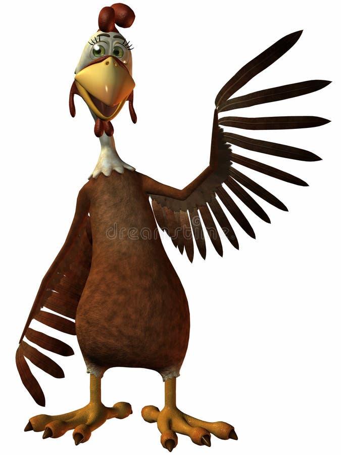 Animowany kurczaka ilustracji