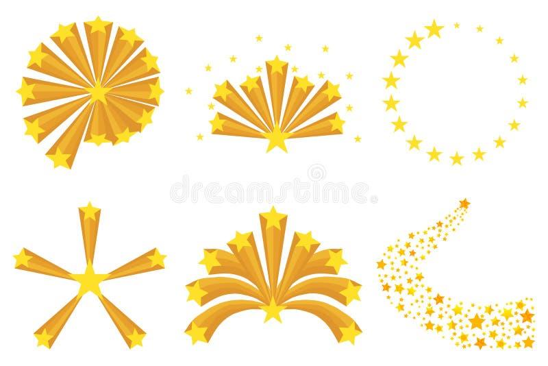 Animowany wybuch gwiazdy ilustracji