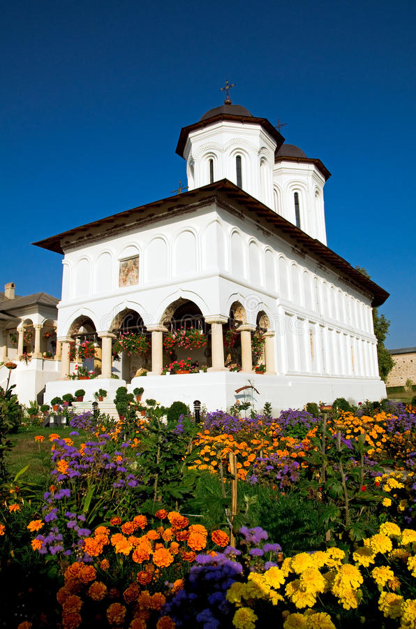 aninoasa修道院罗马尼亚 免版税库存图片