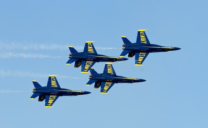 aniołów błękitny demonstraci marynarki wojennej eskadra my obrazy stock
