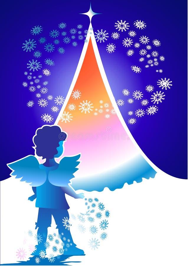 aniołów boże narodzenia royalty ilustracja