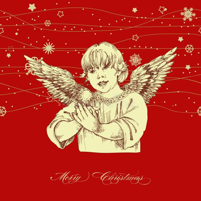 aniołów boże narodzenia odizolowywali biel ilustracji