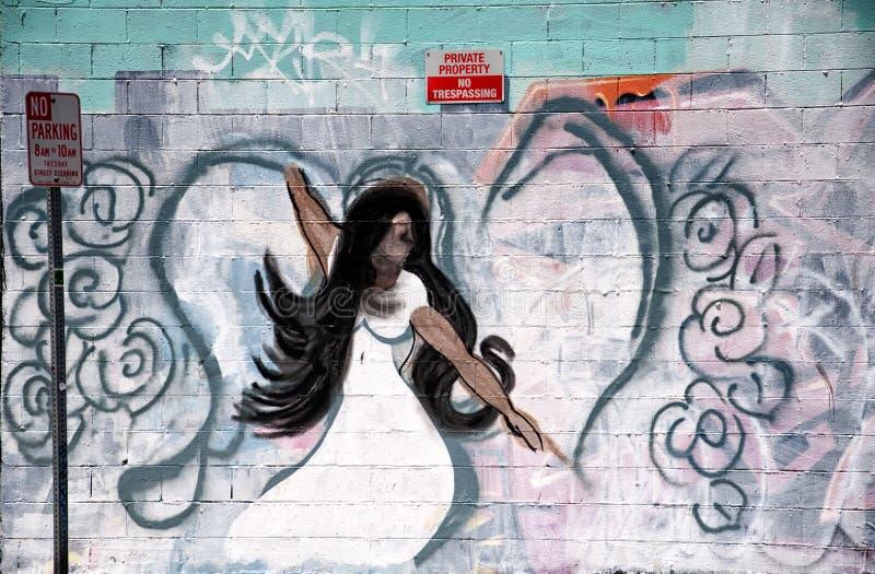 Aniołów graffiti Los Angeles Kalifornia fotografia stock