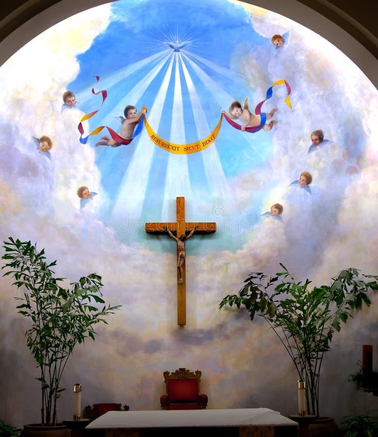 aniołów kościelny poczęcia krzyż niepokalany zdjęcie stock