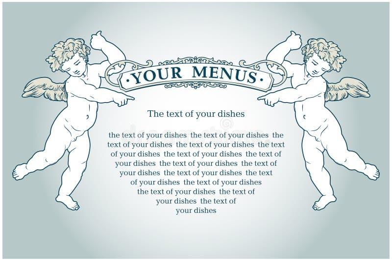 aniołów menu ilustracji