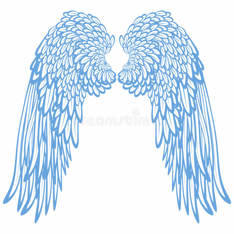 aniołów pary skrzydła ilustracja wektor