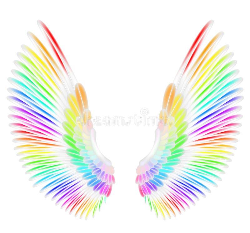 Aniołów skrzydła ilustracja wektor