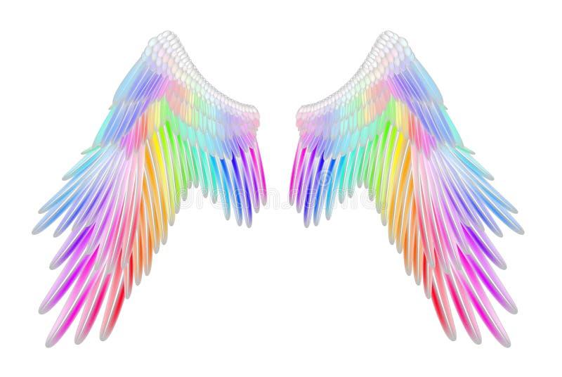 Aniołów skrzydła royalty ilustracja