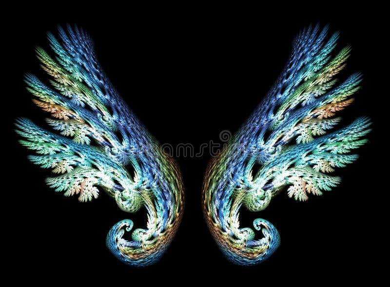 aniołów skrzydła dwa ilustracja wektor