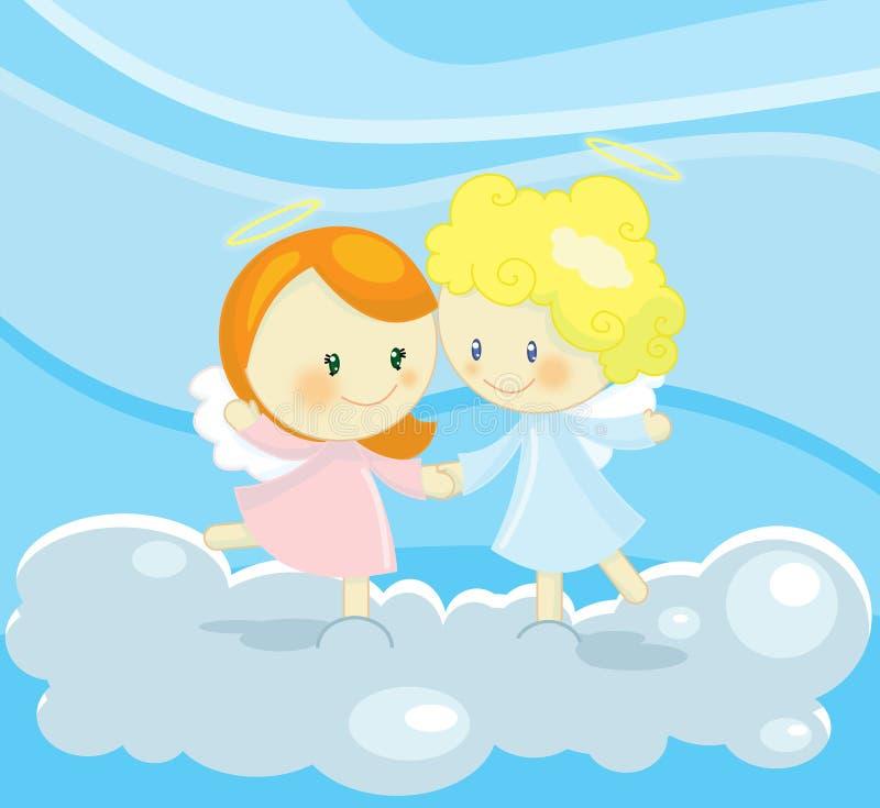 aniołów target2361_1_ ilustracja wektor
