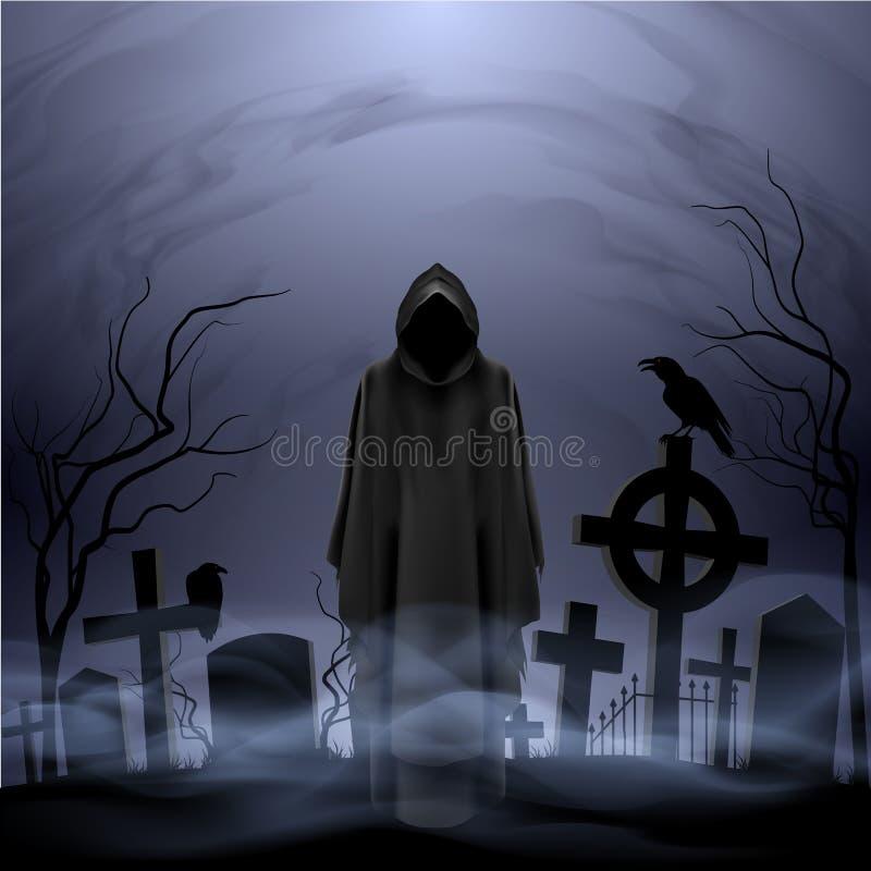 Anioł śmierć w cmentarzu ilustracji