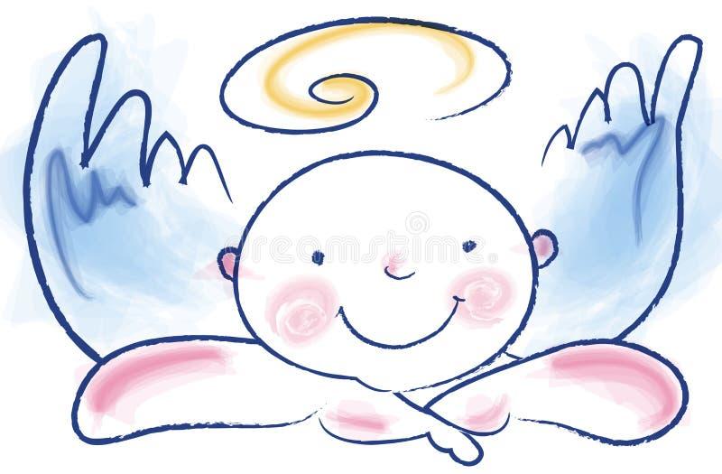 anioł śmieszny royalty ilustracja