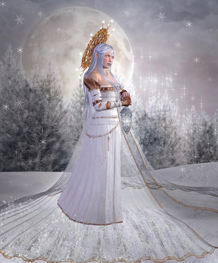 Anioł śnieg ilustracji