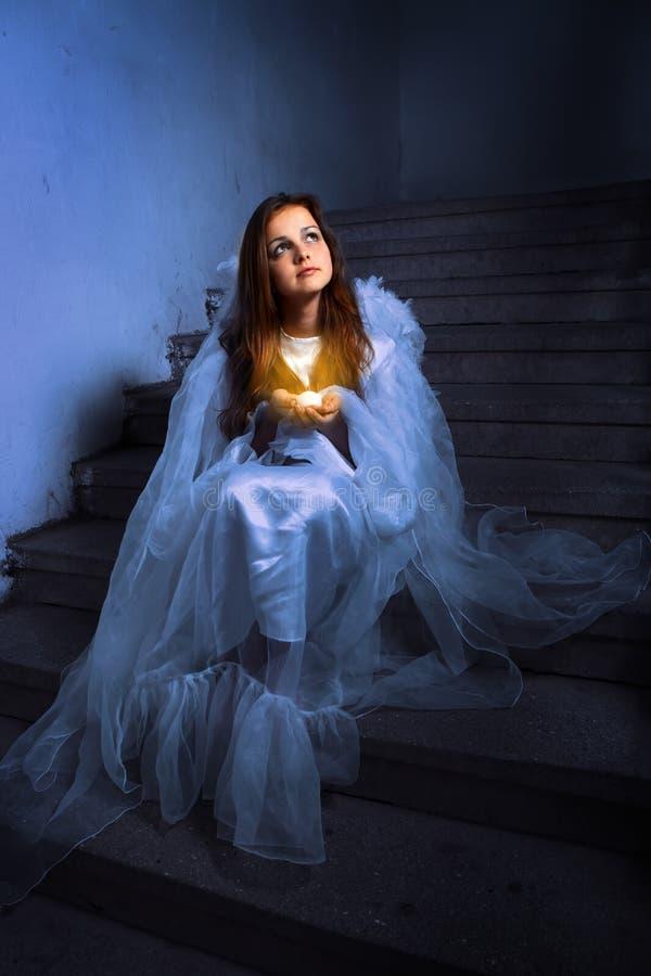 anioł świeczka fotografia stock