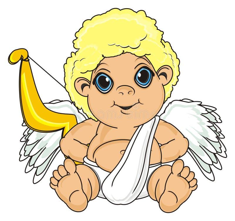 Anioł chuje łuczniczki ilustracja wektor