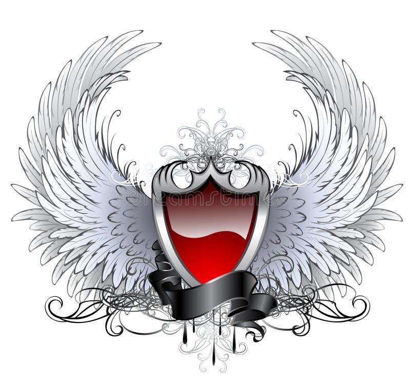 Anioł czerwona osłona ilustracji