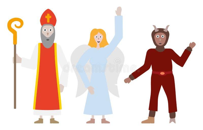 Anioł, diabeł i święty, Nicholaus ilustracji