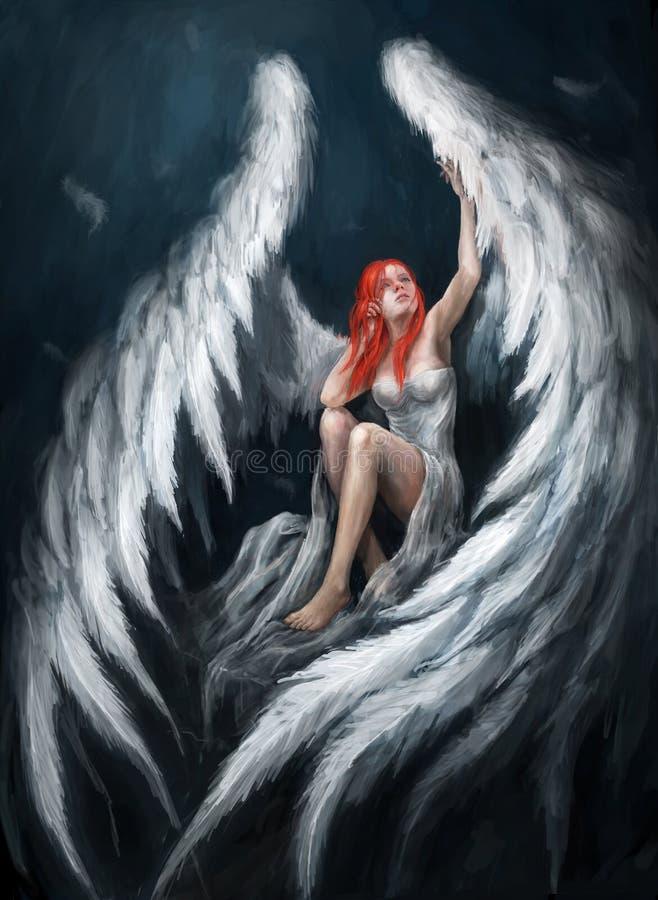 anioł dziewczyna ilustracji