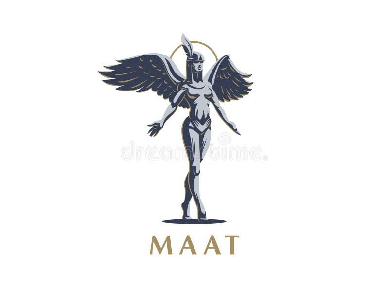 Anioł dziewczyny kroki na tiptoe z rękami rozprzestrzeniają i skrzydła ilustracja wektor