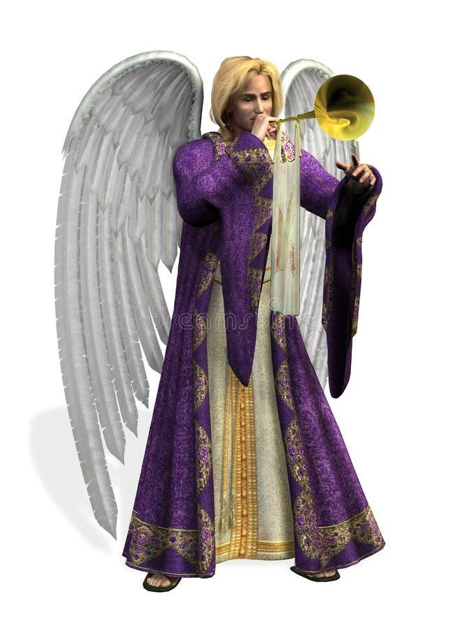 anioł Gabriel zawiera ścieżkę śliwek royalty ilustracja