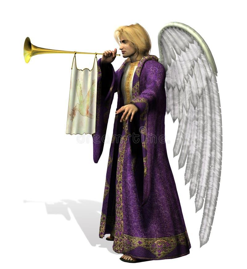 anioł Gabriel zawiera ścieżkę śliwek ilustracja wektor