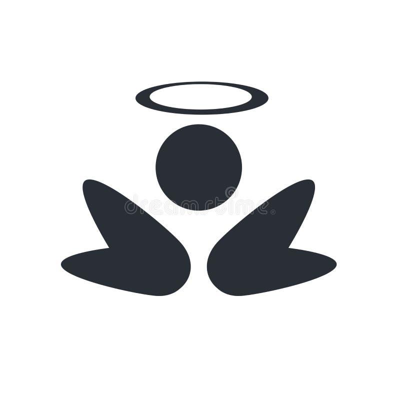 Anioł ikony wektoru znak i symbol odizolowywający na białym tle ilustracja wektor