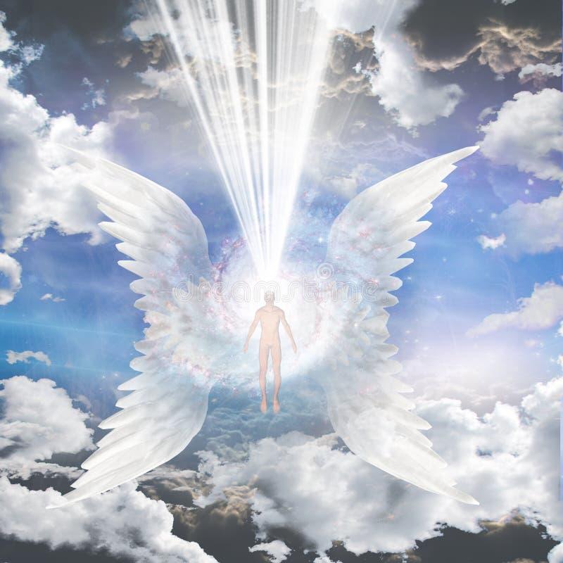 Anioł komponujący galaxy ilustracja wektor