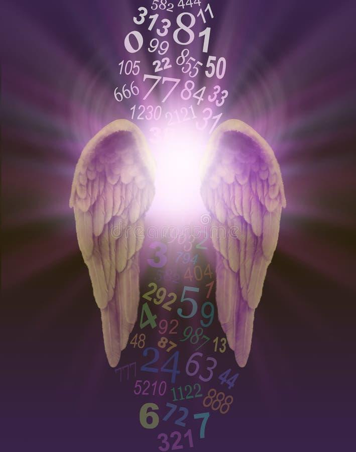 Anioł liczby royalty ilustracja