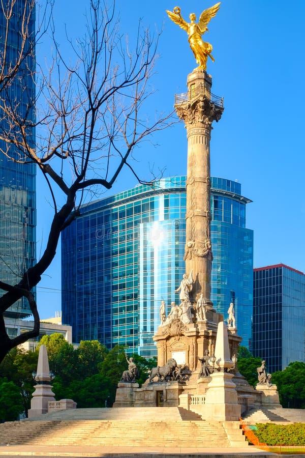 Anioł niezależność, symbol Meksyk obrazy royalty free