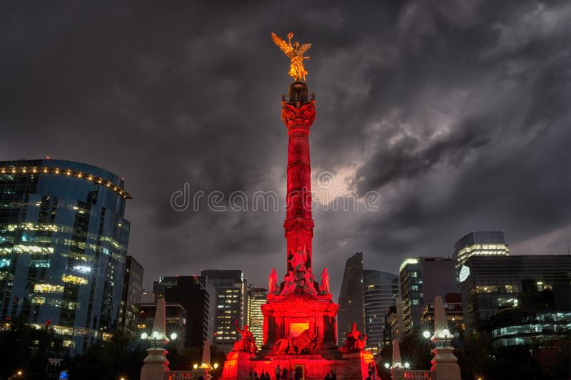 Anioł niezależność w Meksyk zdjęcie stock