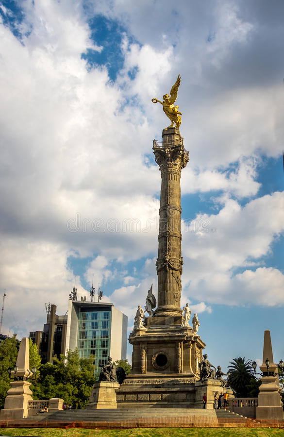 Anioł niezależność zabytek - Meksyk, Meksyk obraz stock