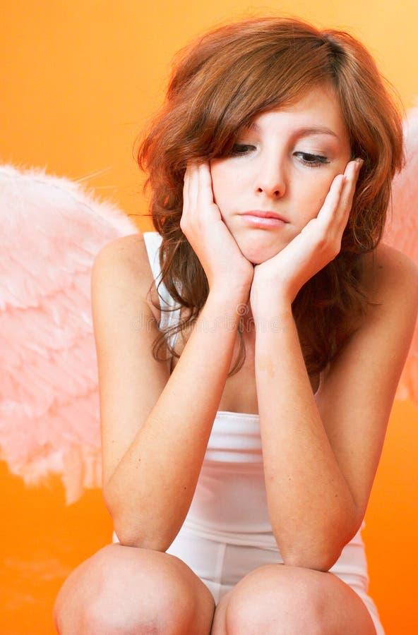 anioł rozczarowany obraz stock