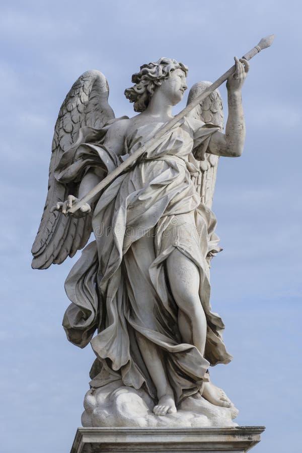 Anioł rzeźba - Ponte Sant Angelo Rzym obraz stock
